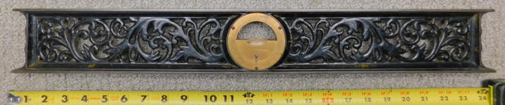 L. L. Davis 24 Inch Cast Iron Inclinometer Level
