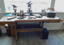 19th Century Antique Carpenters Work Bench