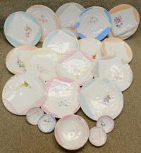 """24 Antique Embossed """"Napkin Plates"""""""