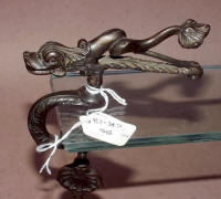 Antique Bronze Figural Sea Serpent / Monster Sewing Clamp with Pincushion
