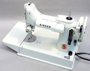 White Singer 221 Sewing Machine