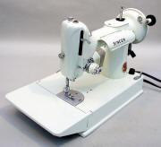 1960s White Singer Featherweight 221 Sewing Machine
