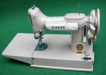 Tan Singer Featherweight 221J Sewing Machine